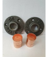 2 X Malleable iron metal Flange  and 2 X Copper 22mm Pipe Fitting *LOOK* - $13.04