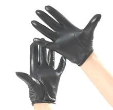 Herren 100% Echt Schaffell schwarz / braun Polizei handschuhe - $22.34
