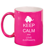 11oz Ceramic Coffee Tea Mug Glass Cup Keep Calm and Love Elephants - $14.99