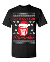 Gifts Out for Harambe Christmas Ugly Sweater Design Tee Shirt 1553 - $9.85+