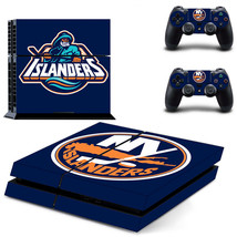New York Islanders Sticker PS4 Playstation Decal Vinyl Console+2 controllers - $12.86