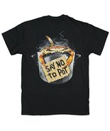 Men's Funny Say No to Pot with Crab T-Shirt (XXX-Large) Black - $20.74