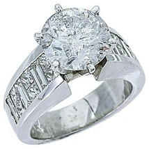 5 CARAT WOMENS DIAMOND ENGAGEMENT RING ROUND PRINCESS BAGUETTE CUT WHITE... - £27,378.34 GBP