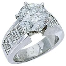 5 CARAT WOMENS DIAMOND ENGAGEMENT RING ROUND PRINCESS BAGUETTE CUT WHITE... - £27,808.81 GBP