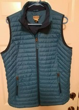 Vintage Duluth Trading Full Zip Polyester Insulated Nylon Vest Blue Size... - $26.19