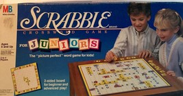 Scrabble Crossword Board Game Juniors Milton Bradley  2 Sided Board 1989 - $19.79