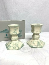 PartyLite 7/8″ Terrazzo Pair Candle Holders Pillar NEW Home Decor Decora... - $21.78