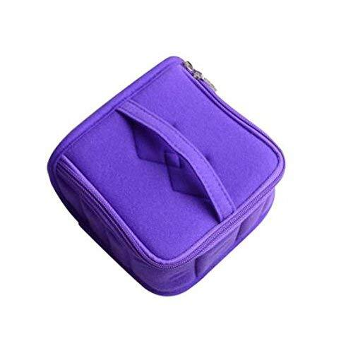 13-Slots Essential Oil Carrying Case Portable Handle Bag (purple)