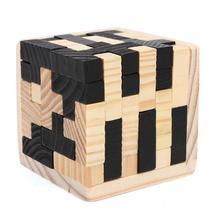 54Pcs Wood Magic Intelligence Game 3D Wood Puzzle Brain Teaser Magic Tet... - $17.18