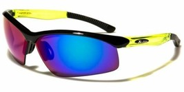 2x Men Mirrored Lens Frame Wrap Around Sport Cycling Baseball Sunglasses Green - $13.99