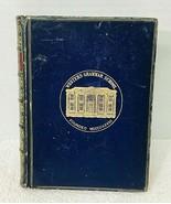 Tour Round My Garden Ca. 1880 Blue Leather Bound HB Book Marbled Edges - $94.05