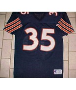 Chicago Bears #35 NFL NFC Central Champion Blue Orange White Vintage Jersey 44 - $59.39
