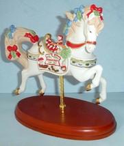Lenox 2018 Christmas Carousel Horse Santa's Fudge Shop Figurine #878315 New - £141.86 GBP