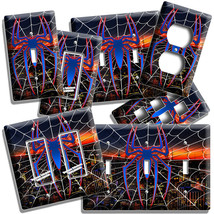 SPIDER MAN WEB OVER NEW YORK NIGHT SKYLINE LIGHT SWITCH OUTLET PLATES RO... - $10.99+
