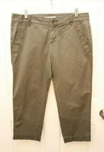 Ann Taylor LOFT Size 6 Capri Pants Khaki Olive Green - $17.79