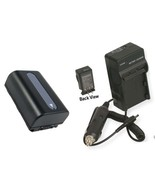 Battery + Charger for Sony HDR-TG1 HDR-TG1E HDR-TG3 HDR-TG3E HDR-TG5 HDR... - $26.89