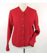 TravelSmith Jacket  Size M Red Lightweight Waffle Jacket NEW - $24.99