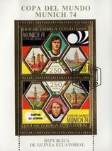 World Cup Munich 74 Germany Sport Soccer Souvenir Sheet of 2 Stamps - $7.30