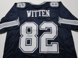 JASON WITTEN / DALLAS COWBOYS / AUTOGRAPHED COWBOYS CUSTOM FOOTBALL JERSEY / COA image 1