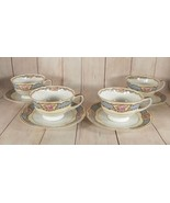 Black Knight Selb Bavaria BLK17 Cup and Saucer Set (s) LOT OF 4 Blue Band - $81.62