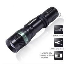 3000 Lumen Flashlight Zoomable CREE XM-L Q5 LED Torch Lamp Light AF9