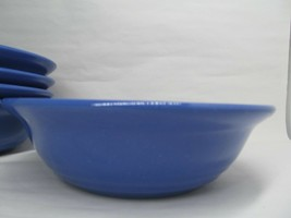 5 Dansk Craft Colors Malaysia Blue Blueberry Embossed  Cereal  Bowl Bundle of 5 - $48.02