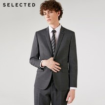 "SELECTED the new thought of blackrock""s men flat collar business suit Bl... - $199.90"