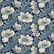 GP & J Baker Sissinghurst Indigo Blue Floral Print Multi-Purpose Fabric ... - $190.00