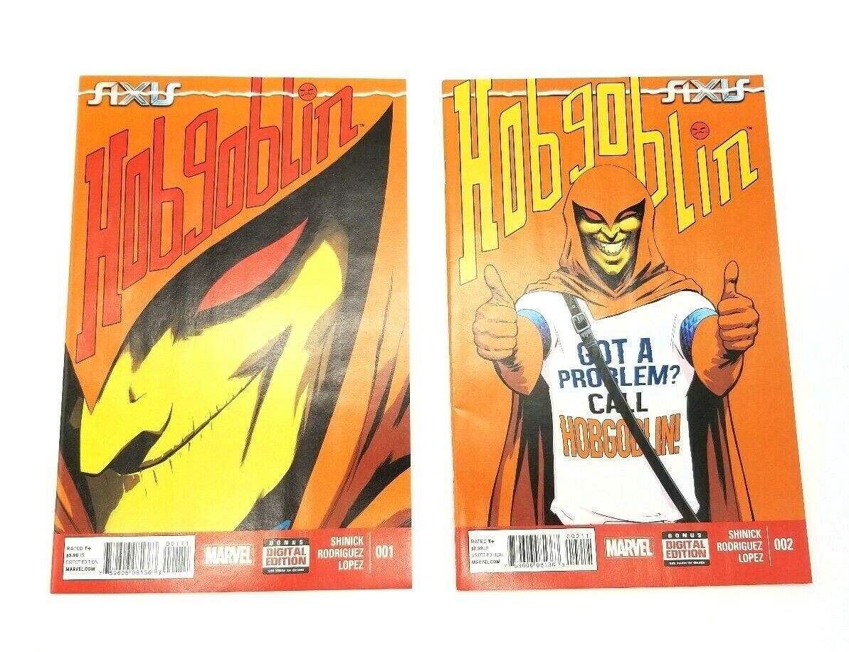 AXIS Hobgoblin #1 & #2 December 2014 Marvel Comics Book First Print Shinick