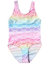 Big Girls Mermaid Beach Clothes Swimsuits One Piece Bathing Suits Size 1... - $19.54