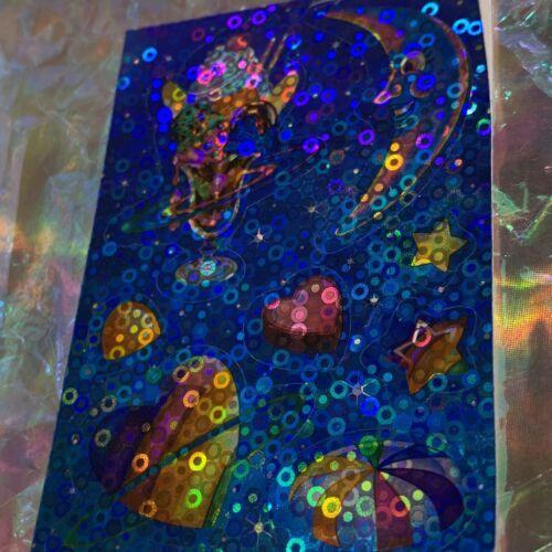 *ONE* VINTAGE 90s LISA FRANK Bubble Prism GALACTIC SUNDAE Sticker Mod  RARE!