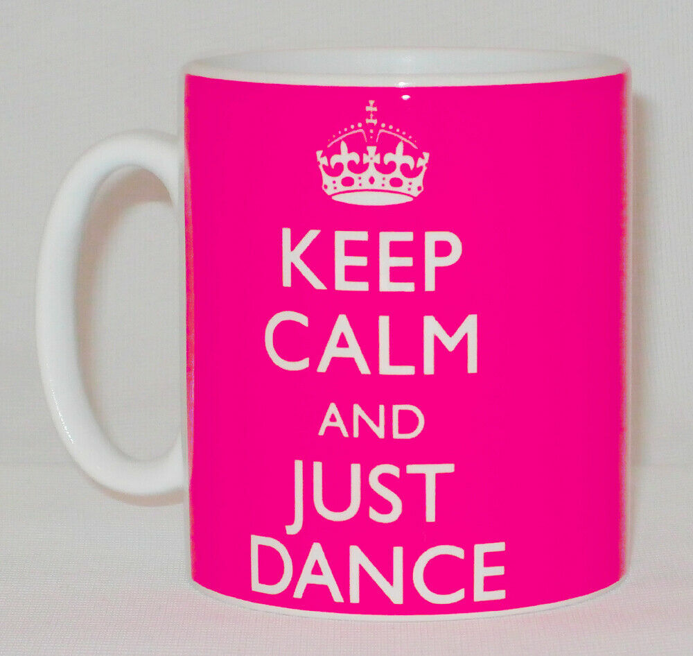 Keep Calm & Just Dance Mug Can Personalise Great Strictly Fan Ballet Disco Gift