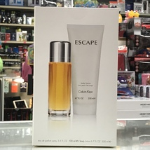 ESCAPE by CALVIN KLEIN 2-PCs WOMAN SET, 3.4 OZ + 6.7 OZ BODY LOTION - $44.98