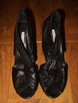 Vera Wang Lavender Incredible Black High Heel Shoes Zipper Back Sexy Usa 9 - $10.24