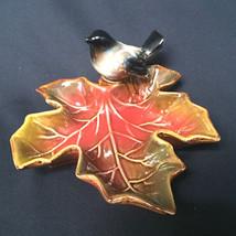 Ceramic Bird Sitting On A Autumn Leaf Creativeco-Op - $27.72