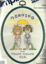 Vintage Simplicity Cross Stitch Kit Dear Johns Morning The Power Shower ... - $14.59