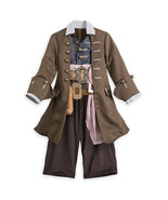 Disney Store Kids Official Pirates Of The Caribbean Jack Sparrow Fancy Costume - $72.09