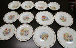 Royal Doulton Bunnykins Bowls and Plates Set of 12 - $95.92