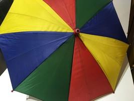 CHILD MULTI-COLOR UMBRELLA RAIN WATER PROTECTION THEATRE SHOW GIRL BOY K... - $9.49