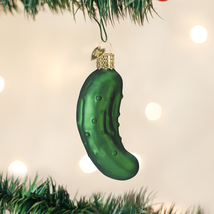 Old World Christmas Pickle German Holiday Tradition Glass Xmas Ornament 28016 - $6.88