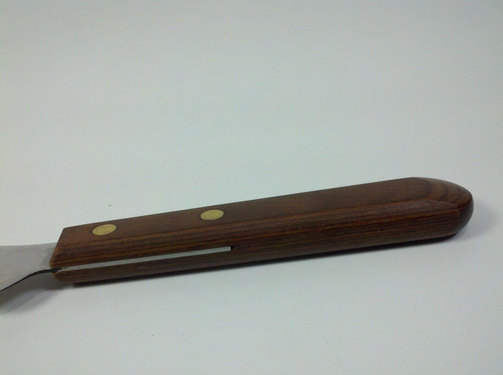 Ekco Viscount Stainless Steel Wooden Handheld Angled Knife