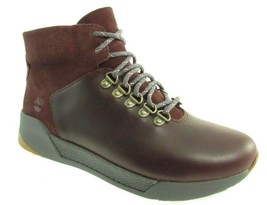 TIMBERLAND A1ZFW KIRI UP WOMEN'S BURGUNDY WATERPROOF LEATHER HIKER BOOTS - $89.99