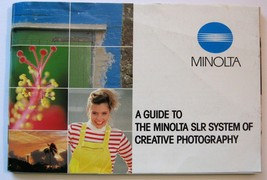 A Guide To The Minolta SLR System Of Creative Photography, 1984 Original... - $4.94