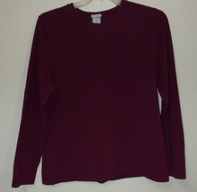 Womens Old Navy Burgundy Long Sleeve Top Size XXL - $10.95