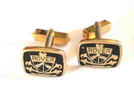 rover cars antique cufflinks 1 set only good condition see photos.(very rare)  image 2