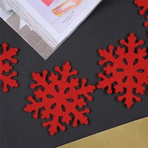 4pcs/lot Red Snow Cup Mats Christmas Indoor Desk Table Dinner Decorative... - $2.11