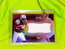 NFL STEPHEN HILL JETS 2012 BOWMAN STERLING JUMBO JERSEY REFRACTOR SP/75 MNT - $2.69