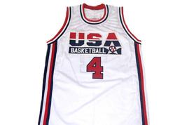 Christian Laettner #4 Team USA Basketball Jersey White Any Size image 4