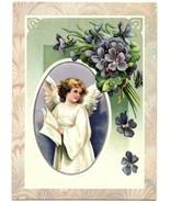 Vintage Christmas Angle Holiday Seasons Art Greeting Card - $13.99