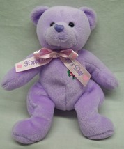 "TY Beanie Baby 2.0 LOVE TO MOM MOTHER'S DAY PURPLE BEAR 7"" Plush Stuffed... - $14.85"